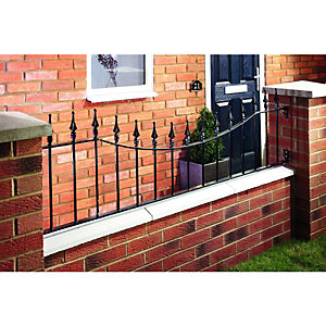 Wickes Windsor Wall Railing Black 515 x 1830mm