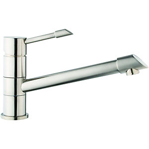Wickes Maray Mono Mixer Kitchen Sink Tap Brushed Stainless Steel
