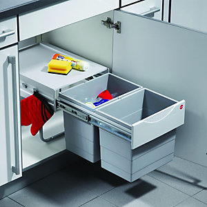 Wickes Kitchens Triple Waste Bin