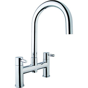 Wickes Kumai Bridge Kitchen Sink Mixer Tap Chrome