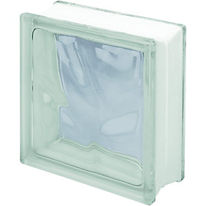 Wickes Glass Block Clear 190x190x80mm 10 Pack