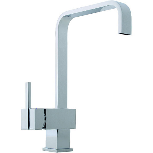 wickes curve mono mixer kitchen sink tap chrome. Black Bedroom Furniture Sets. Home Design Ideas