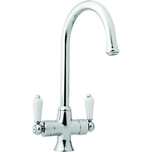 Wickes Toba Mono Mixer Kitchen Sink Tap Chrome