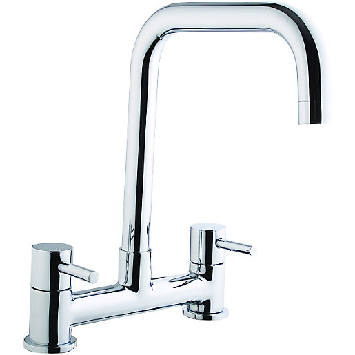 wickes seattle bridge kitchen sink mixer tap chrome. Black Bedroom Furniture Sets. Home Design Ideas