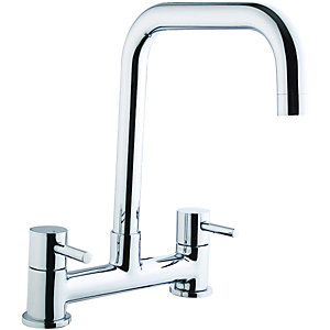 Wickes Seattle Bridge Kitchen Sink Mixer Tap Chrome