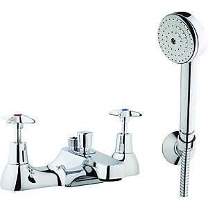 Wickes Trade Plus Bath Shower Mixer Chrome