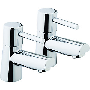 Wickes Asmara Bath Taps Chrome