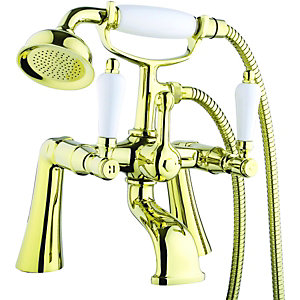 Wickes Cascada Bath Shower Mixer Gold