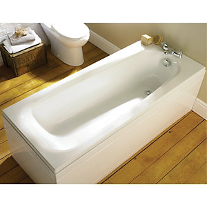 Wickes Eco Contemporary Low Literage Bath White 1680mm