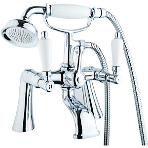 Wickes Cascada Bath Shower Mixer Chrome
