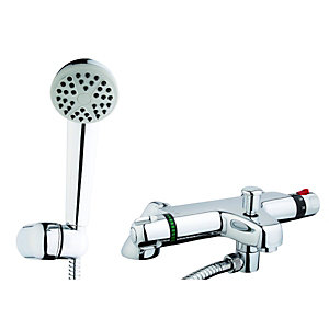 Wickes Atherton Bath Shower Mixer Chrome