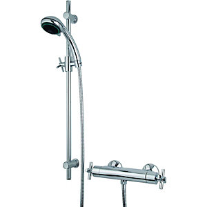 Wickes Anvil Thermostatic Mixer Shower Chrome