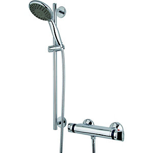 Wickes Tornado Thermostatic Mixer Shower Chrome