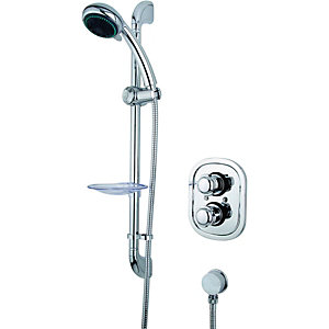 Wickes Tormelli Recessed Thermostatic Mixer Shower Chrome