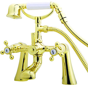 Wickes Classic Bath Shower Mixer Gold