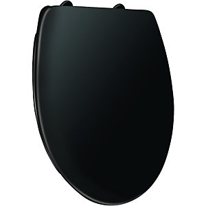 Wickes Thermoplastic Black Toilet Seat