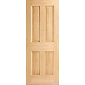 Oak Victorian 4 Panel No Raised Mouldings FD30 Internal Fire Door 1981mm x 838mm x 44mm