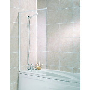 Wickes Bath Screen White Effect Frame