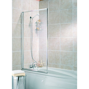 Wickes Bath Screen Silver Effect Frame