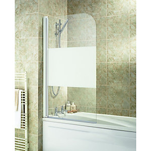Wickes Half Bath Screen White Effect Frame