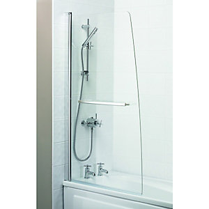 Wickes Half Bath Screen Silver Effect Frame 1500mm