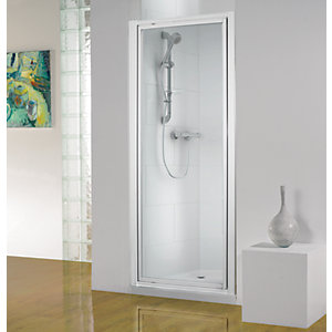 Wickes Pivot Shower Enclosure Door White Frame 760mm