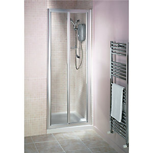 Wickes Bi-fold Shower Enclosure Door Silver Effect Frame 760mm