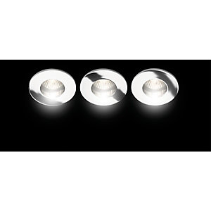 Wickes Saden Fixed Bathroom Downlight Chrome 3 Pack