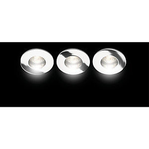 Wickes Fixed Shower Downlight Chrome 3 Pack