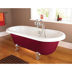 Wickes Cavalania Double Ended Roll Top Bath Red