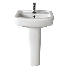 Wickes Capri Basin with Full Pedestal 450mm