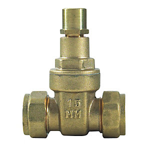 Lockshield Gate Valve 15mm