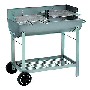 Wickes Oil Drum Charcoal BBQ