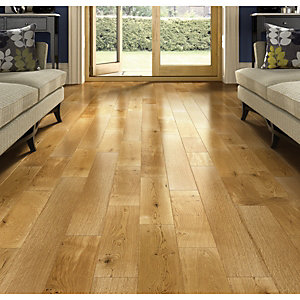 Wickes Caramel Oak Solid Wood Flooring