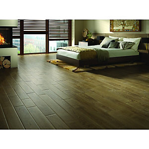 Wickes Brazilian Brown Oak Solid Wood Flooring