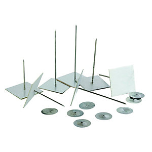 Wickes Idenden Self Adhesive 62mm Metal Hangers Pack 500
