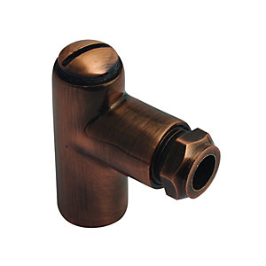 Wickes Brass Gas Restrictor Elbow 8 x 100mm