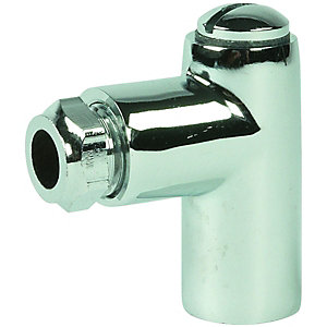 Wickes Chrome Gas Restrictor Elbow 8 x 50mm