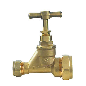 Wickes Brass Poly Stop Cock 25 x 25mm
