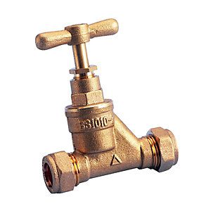 Wickes Brass Stop Cock DZR 22mm