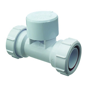 McAlpine Ventapipe 25 Air Admittance Valve with integral 1 1/2in Multifit Tee VP3