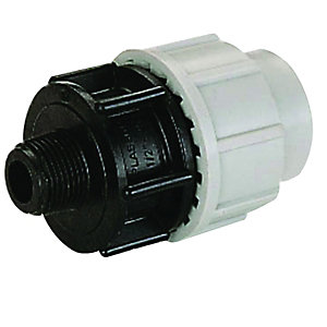 Plasson Threaded Male Adaptor 25mm x 1/2in