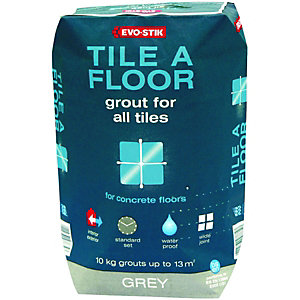 Evo-Stik Tile A Floor Grout For All Tiles Grey 10kg