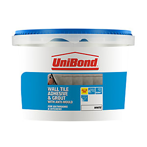UniBond All Purpose Wall Tile Adhesive & Grout White 1L