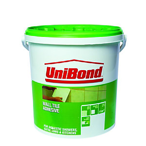 UniBond Waterproof Wall Tile Adhesive Trade 10L