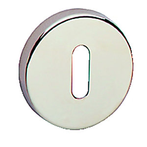 Urfic Escutcheon Standard Lock Plates Polished Nickel