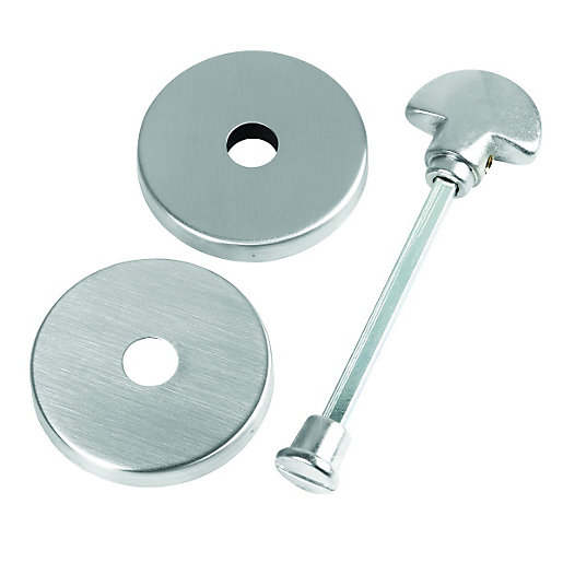Urfic Escutcheon Bathroom Handle Satin Nickel Wickes Co Uk