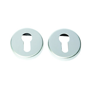 Wickes Euro Profile Escutcheon Satin Anodised Alumnm FD062