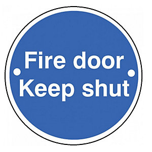 Wickes FD118 Fire Door Keep Shut Sign PVC 70mm