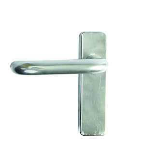 4Firedoors Concealed Fix Plate Latch Handle Satin Anodised Aluminium 19mm